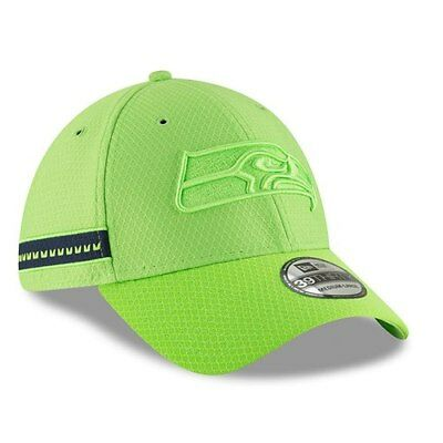 6fc144af9 ... closeout seattle seahawks new era 2018 nfl sideline color rush official 39thirty  flex hat 0788b 9f61f