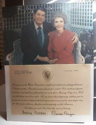Vintage 1989 Autographed Picture & Letter of President Ronald Reagan