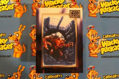 2018 STAR WARS GALAXY COMMEMORATIVE ART PATCH CARD M-RM Rancor Monster   *  5168