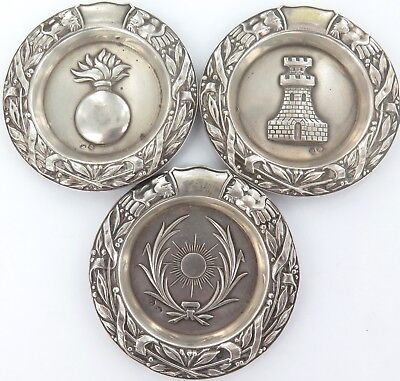 .3 Vintage Spanish .915 Silver Coasters / Small Dishes. Priced To Sell !!