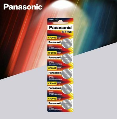 5pcs Panasonic cr 2032 Button 3V Cell Batteries For Watch/ Remote/ Calculator