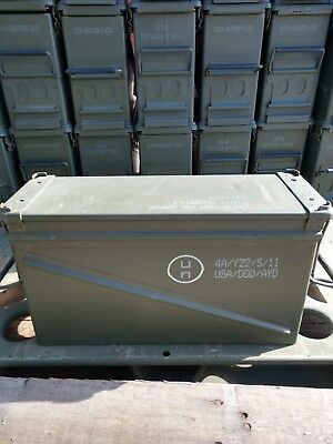USGI 40mm AMMO CAN PA-120 Steel Large Removable Lid Military Surplus (Single)