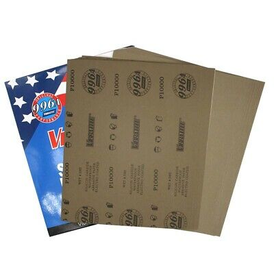 "9""x11"" Waterproof Sandpaper Abrasive Paper 600-10000 Grits for Wet/Dry sanding"