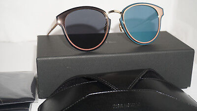 0a46188ac9 Christian Dior Sunglasses New Nightfall Gold Pink Crystal Blue 35J2A 65 11  150