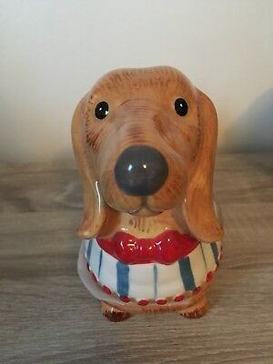 Sausage Dog Dachshund Butter Dish Container Animal Shaped Gift New Bniw Present