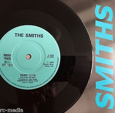"""The Smiths - Panic - Rare UK Solid Centre 7"""" + Picture Sleeve (Vinyl Record)"""