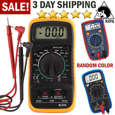 Digital Multimeter Tester Meter with Ohm AC/DC Volt Amp Diode Voltage DC Current