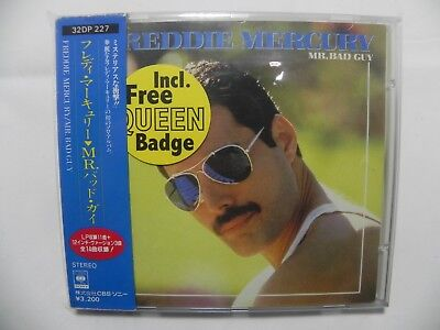 Freddie Mercury Queen - Mr.Bad Guy Japan CD + 3 Bonus + BOX OBI + BADGE 32DP-227