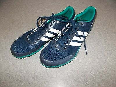 size 40 2494c 676fb Blue Adidas Distancestar Track and Field Running Shoes Mens Size 10  Footwear