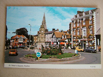 Postcard - ST. PETER'S SQUARE, RUTHIN. Unused. Standard size.