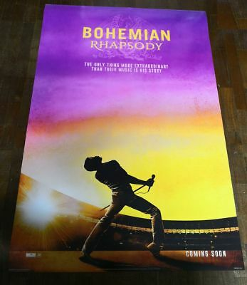 Queen BOHEMIAN RHAPSODY 2018 Original Int'l 27x40 DS Movie Poster Rami Malek