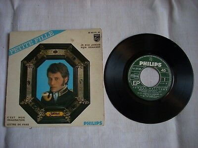 EP 45 Tours vinyl Johnny Hallyday PETITE FILLE-437371 BE