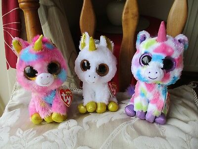 TY BEANIE BOOS Unicorn Soft Toy Bundle Pegasus 4cfea3ce2307