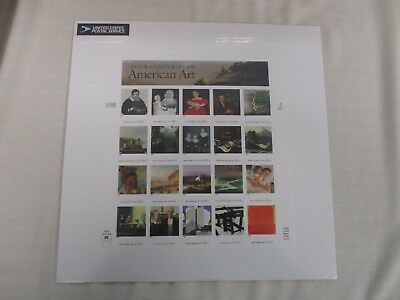Sheet Us Postage Stamps Four Centuries Of American Art ~ Sealed Mint