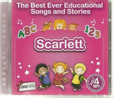 The Best Ever Educational Songs & Stories Personalised Cd - Scarlett - Abc 4 Me