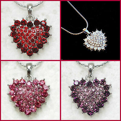 Heart Necklace~Happy Mothers Day Birthday Gift For Her~Women Wife Girlfriend Mom