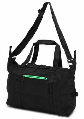 86eadec6e2e2 Nike NSW Eugene Premium Black Duffel Bag Luggage BA4738  300 Lightweight  Carry