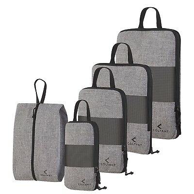 5 Set Compression Packing Cubes Travel Luggage-Organizer Set Packs More in Less