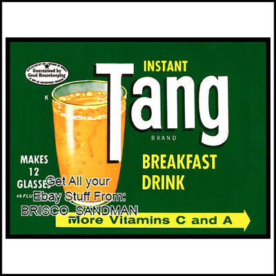 Fridge Fun Refrigerator Magnet TANG DRINK LABEL ART Vers: A Vintage Retro