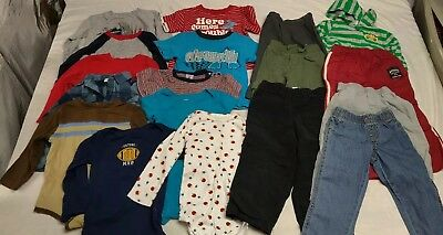 Nice Lot Of 18 Boys Clothes Toddler 24 Month2T, Pre Owned In Excellent Condition