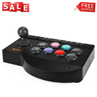 PXN 0082 Wired Arcade Joystick Game Controller USB Black for PC PS3 PS4 Xbox One