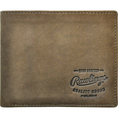 Rawlings Double Steal Bifold Wallet - Glove Brown Men s Wallet NEW 2247c6f1d1bda