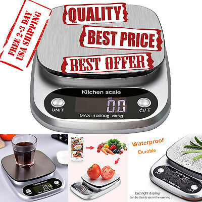 Digital Kitchen Scale Multifunction Food Scale 22lb 10kg ABS+ Stainless steel