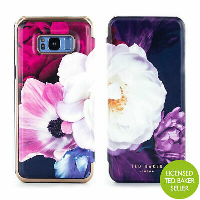 b599ffadce9025 OFFICIAL TED BAKER LANDACE Mirror Folio Case for Galaxy S8+ - Blushing  Bouquet