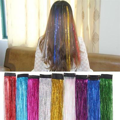 Holograph Sparkle Hair Tinsel Strands Glitter Extension Highlight Party Bling LA