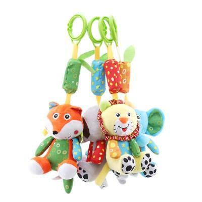 Plush Animal Stroller Hanging Play Toy Soft Baby Infant Colorful Rattles Doll C