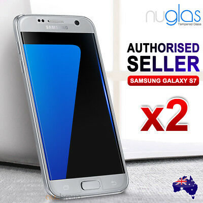 2 X Genuine Nuglas for Samsung Galaxy S7 Tempered Glass Screen Protector Guard