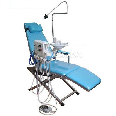 DHL Ship! Portable Dental Folding Chair Unit Equipment + LED Surgical Light Lamp