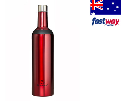 Insulated Wine Carrier Bottle / Wine Flask 750ml -DUAL OPENING -keeps cold 24hrs