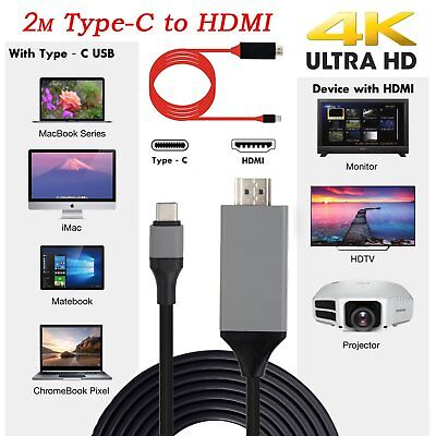 4K 1080P Type C to HDMI HDTV Adapter Cable For Macbook Huawei Samsung S8+LG HTC