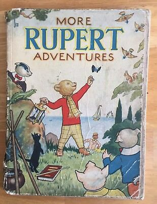 RUPERT ORIGINAL ANNUAL 1943 Inscribed Not Price Clipped BOUND in HARD COVERS.