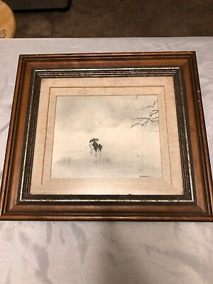 Original Vintage Michael Schofield Signed Framed Painting Listed Artist
