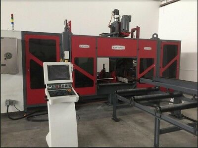 CNC Beam Drilling Line with Tapping, Milling, Countersinking, & Layout Marking