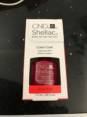 Cnd Shellac Nail Polish Ruby Ritz New