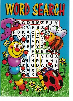 4 Kids Word Search Books Each With 48 Puzzles A5 Size  Ideal For Learning Words