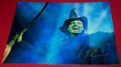 Teal Wicks Signed 8x12 Wicked Elphaba Photo Coa Autographs-original