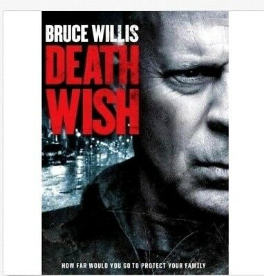 Death Wish (DVD,2018) NEW Free Shipping