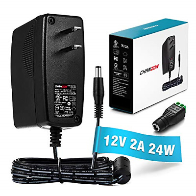 [UL Listed] Chanzon 12V 2A 24W AC DC Switching Power Supply Adapter Input Output
