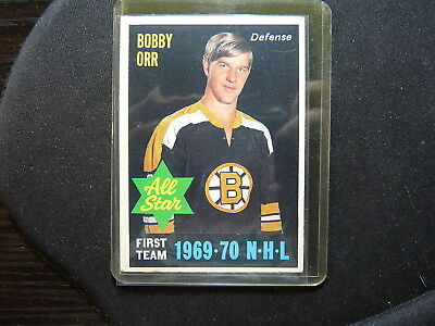 Vintage Hockey Card O Pee Che 1970-71  Bobby Orr Boston Bruins All Star  L372
