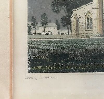 St Asaph Cathedral, Flintshire, Wales: drawn by H. Gastineau, 1831 hand colored