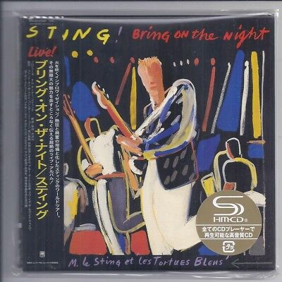 STING Bring On The Night JAPAN 2 MINI LP SHM-CD papersleeve police UICY-78278/9