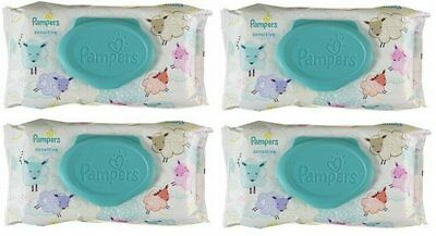PAMPERS BABY WIPES SENSITIVE 56ct (4 PACK)
