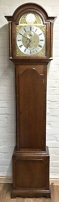 Antique Brass Dial OAK Grandfather Longcase Clock GOLDSMITHS REGENT ST LONDON