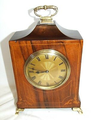 Antique French EDWARDIAN Inlaid Walnut Bracket Mantel Clock