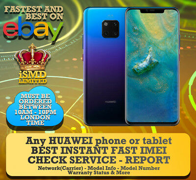 Instant Fast Huawei Imei Network Carrier Blacklist Check Service Checker
