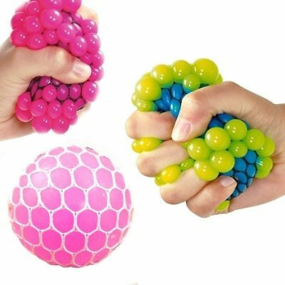 6 Squishy Mesh Balls Fidget Stress Toy Kids Fun Play Squeezy Gripper Ball favor
